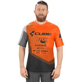 Cube Edge Kortärmad cykeltröja Herr orange/svart